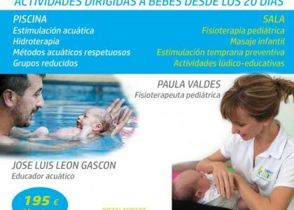 New workshops for Early and Aquatic Stimulation