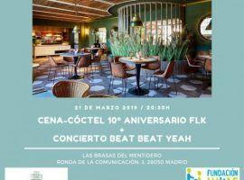Cena-cóctel 10º aniversario FLK
