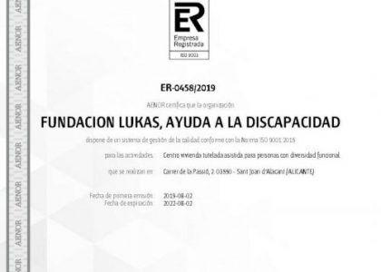Certificación ISO 9001:2015 para la gestión de calidad de la Vivienda Tutelada