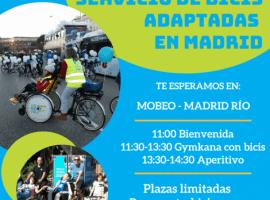 Inauguramos el nuevo servicio de bicicletas adaptadas en Madrid Río
