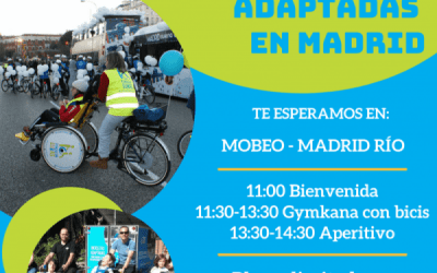 We inaugurate the new adapted bicycle service in Madrid Río
